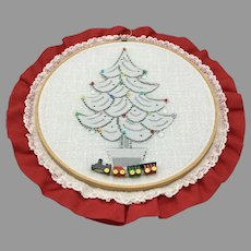 Vintage German Christmas Embroidery and Lace Decor
