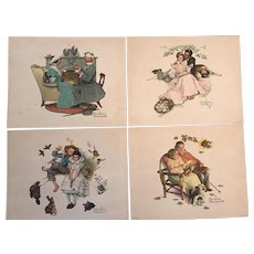 Norman Rockwell Prints -- Set of 4 Vintage Prints