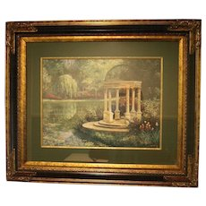 Van Martin Print Afternoon Reflections Professionally Framed and Matted
