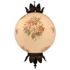 Mid Century Pendant Light With Flower Globe