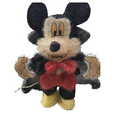 Rare Mickey Mouse Count Dracula Vampire -- Stands Up on Metal Frame with Lighting Inside