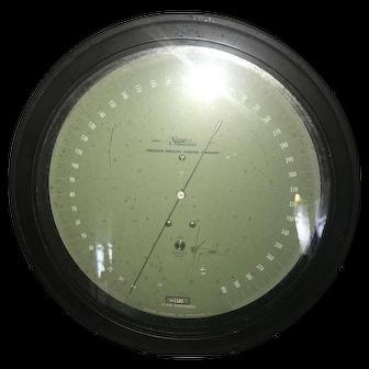 Seegers Precision Transfer Standard -- Air Pressure or Vacuum Gauge with Large Display - Steampunk or Vintage Industrial Collector