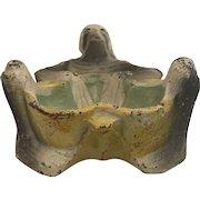 Cast Iron Skeleton Pipe Holder, Incense Holder or Ashtray