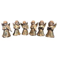 Set of 6 Mikasa Angel Ceramic Bisque Figurines
