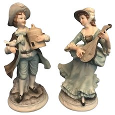 Andrea by Sadek Boy and Girl Figurines (Mold 8592) -- Matching Pair Included for This Listing