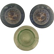 Set of 3 Depression Era (I think) Glass Trinket Dishes or Ashtrays