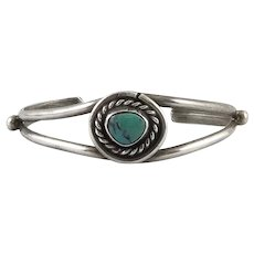 Sterling and Turquoise Child's Bracelet