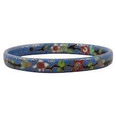 Chinese Cloisonne Enamel Bangle Bracelet