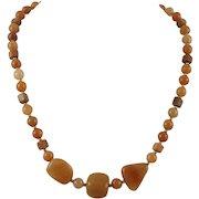 Peach Aventurine Bead Necklace