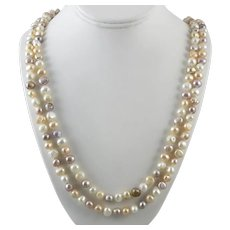 Pastel Freshwater Cultured Pearl Enhanced Color Necklace