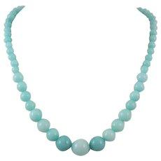 Graduated Amazonite Bead Necklace