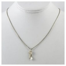 Sterling Silver Key to My Heart Italian Necklace