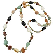 Mixed Gemstone Bead Necklace