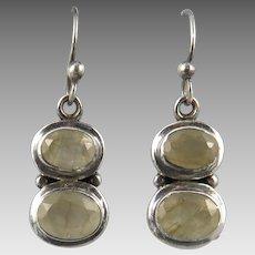 Rutilated Quartz Sterling Silver Earrings