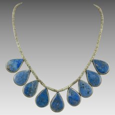 Lapis Bib Tribal Style Necklace