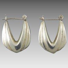 Sterling Silver Fancy Hoops