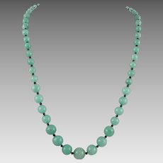 Green Aventurine Graduated Bead Necklace