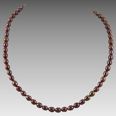 Chocolate Color Cultured Pearl Necklace