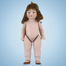 "Antique All Bisque 3.5"" German Doll 620"