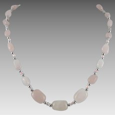 Rose Quartz Bead Necklace