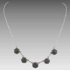 Sterling Silver Filigree Festoon Style Necklace