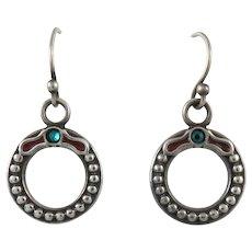 Sterling Silver Wreath Earrings