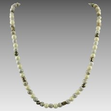 Howlite Bead Necklace
