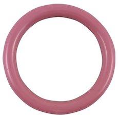 Vintage Pink Glass Bangle Bracelet