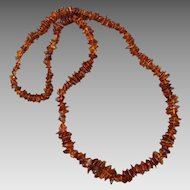 Baltic Cognac Amber Polished Nugget Necklace