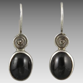 Rainbow Obsidian and Sterling Silver Earrings by Sajen