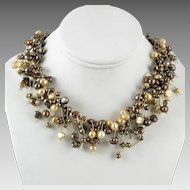 Fringy Freshwater Cultured Pearl Necklace