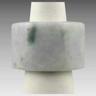 Chinese Carved Jadeite Jade Archer's Style Ring