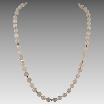 14K GF Rose Quartz Necklace