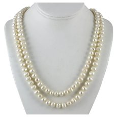 Long Strand Freshwater Cultured Pearl Necklace