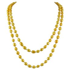 Long Strand Cultured Freshwater Pearl Necklace