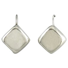755c63b1e Vintage repousse embossed sterling silver creole earrings : Lyonesse ...