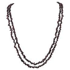 2 Strands Natural Red Garnet Polished Freeform Beads