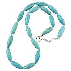 Turquoise Magnesite Column Bead