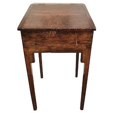 Antique Early American Primitive Pine Wood Standing Slant Top Writing Desk Lectern