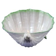 Belleek 1st Period (1863/1891) Small Size Cardium on Shell with Green Highlights