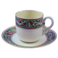 Belleek 3rd Period  (1926/1946) Mid Size Celtic Cup and Saucer - Great Condition