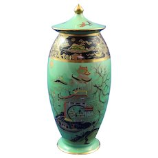 Lovely Carlton Ware Lidded Urn - Temple Pattern - Mint Condition 1920s/30s