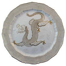 Belleek 1st Period Gilded Chinese Tea Wear Tray Super Condition