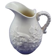 Large 1st Period Belleek (1863-1891) Ivy Jug in Mint Condition.