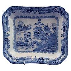 Turner Pottery  Blue & White Dish - Circa 1800/05 Staffordshire England