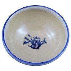 Irish Pottery Nicholas Mosse Spongeware  Bird Decoration Bowl - Mint Condition
