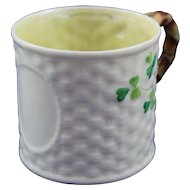 Belleek 2nd Period Shamrock Christening/Named Mug