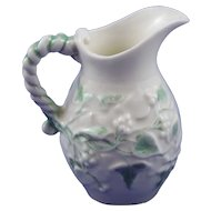 Belleek 1st Period Ivy Painted Milk Jug - Mint
