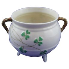 Nice Belleek Shamrock Irish Pot 2nd Period Mint Condition.