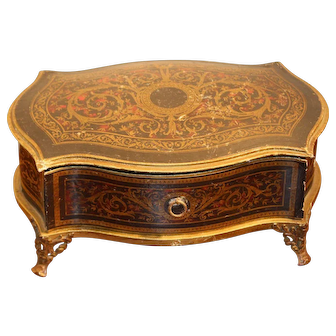 Wonderful French Faux Boulle Chest of Drawers Candy Container